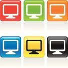Computer Monitor,Computer,Symbol,PC,Clip Art,Interface Icons,White,Black Color,Red,Orange Color,Blue,Vector,Yellow,Design Element,Sign,Green Color,Series,Ilustration,Illustrations And Vector Art,Vector Icons,Clipping Path,Technology,accent,Design,Computers,Color Image