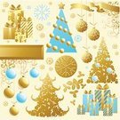 Christmas,Christmas Tree,Gold Colored,Design,Bow,Vector,Decoration,Elegance,Pattern,Design Element,Blue,Snow,Christmas Ornament,Frame,Christmas Decoration,Gift,Winter,Snowflake,Ornate,Grunge,Fantasy,Holiday,Ribbon,Ilustration,Surprise,Sphere,Yellow,Season,Ribbon,Set,Beauty,December,Curled Up,Celebration,Illustrations And Vector Art,Holidays And Celebrations,Vector Ornaments,Christmas,Arts Abstract,Arts And Entertainment