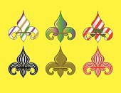Fleur De Lys,Ornate,Vector,Ilustration,Striped,Clip Art,Arts And Entertainment,Holidays And Celebrations,Holiday Symbols,Illustrations And Vector Art,Vector Icons,Computer Graphic,Color Image,Shiny,Symbol,candy stripes