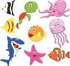 Cartoon,Fish,Sea Life,Shark,Cute,Starfish,Sea,Animal,Clown,Angelfish,Fun,Happiness,Clown Fish,Balloonfish,Humor,Set,Ilustration,Crab,Octopus,Reptile,Cheerful,Turtle,Anemonefish,Collection,Smiling,Fish Tank,Jellyfish,Puffer Fish,Sea Life Centre,Aquarium