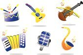 Musical Instrument,Drum,Toy,Music,Violin,Religious Icon,Icon Set,Musical Note,Guitar,Computer Icon,Letter,Singing,Vector,Rock and Roll,Internet,Modern Rock,Film,Performance,Sound,Illustrations And Vector Art,Elegance,Nightclub,Ilustration
