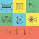 1990s Style,Computer Icon,Symbol,Music,Record,Eyesight,Ilustration,Stereo,1980s Style,Yellow,Blue,Flat,Green Color,Audio Equipment,Design,Connection,Microphone,Audio Cassette,Radio,The Media,Recording Studio,Order,Turntable,Playing,UI,Sign,Icon Set,Red,Boom Box,Set,combo,Design Element,Sound,user,Vector,Industry,Color Image,Creativity,Computer Graphic,Technology,Making,Studio