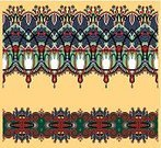 Embroidery,Carpet - Decor,Silk,Vector,Carving - Craft Product,Decoration,Tapestry,Eternity,Pattern,Leaf,Computer Graphic,Ilustration,Ornate,Collection,Tracery,Pinstripe,Textile,Decor,Fashion,Repetition,Symmetry