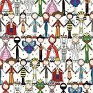 Little Girls,Little Boys,Holding Hands,Happiness,Cheerful,Carnival,Costume,Halloween,Smiling,Child,Pattern,Cartoon,Ilustration,Seamless,Backgrounds,Repetition,Wallpaper Pattern,Traveling Carnival