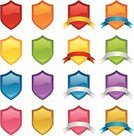 Shield,Coat Of Arms,Banner,Multi Colored,Shiny,Gold Colored,Ribbon,Yellow,Ribbon,Green Color,Interface Icons,Blue,Orange Color,Pink Color,Purple,Illustrations And Vector Art,Red
