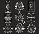 Badge,Camping,Boy Scout,Sign,Wildlife,Fire - Natural Phenomenon,Label,Mountain,Insignia,Exploration,Computer Graphic,Design Element,Hiking,Adventure,Campfire,Survival Training,Summer,Vector,Symbol,trailside,Outdoors,Indigenous Culture,Nostalgia,Ilustration