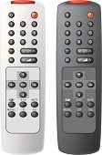 Remote Control,Television Set,Control,Vector,Computer Keyboard,Wireless Technology,Technology,Ilustration,Black Color,Silver Colored,Technology,Isolated-Background Objects,Power Supply,Electricity,Communication,Equipment,Plastic,Infrared Lamp,Isolated Objects,Electronics,Number,Illustrations And Vector Art,White,Vector Cartoons,Shiny,Isolated