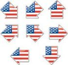 Flag,USA,Patriotism,American Culture,Sign,Frame,Vector,Symbol,Interface Icons,Push Button,Arrow Symbol,Striped,Star Shape,Street,Turning,Placard,Computer Graphic,Text,Fourth of July,The Americas,Communication,Vector Icons,Isolated Objects,Isolated-Background Objects,North America,Ilustration,Direction,Concepts And Ideas,Illustrations And Vector Art