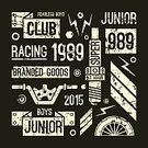 Motorcycle,Insignia,T-Shirt,Wing,Wheel,Car,Sports Race,Flat,Lightning,Black Color,Number,Colors,Riding,Design,Single Line,Rivet,Power,Courage,Electric Plug,Athlete,Championship,Silhouette,Print,Land Vehicle,Large,Spark,Bizarre,Energy,Rivet - Work Tool,Set,Vector,Composition,Gear,Organized Group,Textured Effect,Awe,Label,Motorsport,Speed,Education,Old,Luxury,American Culture,Retro Revival,Tomboy,Rally Car Racing,Engine,Junior Level
