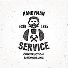 Craftsperson,Old-fashioned,Work Tool,Building Contractor,Repairman,Typescript,Equipment,Manual Worker,Working,Rubber Stamp,Characters,Carpenter,Sign,Men,template,People,Technician,Holding,Computer Graphic,Elegance,Mascot,Vector,Logo Design,Animated Cartoon,Backgrounds,Repairing,Business,Insignia,Ilustration,Symbol,Service,Occupation,Badge,Human Face,Job - Religious Figure,Authority,Expertise,Label,Uniform,Cool