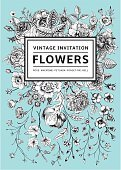 Floral,Old,Messy,Elegance,Grace,Love,Romance,Intricacy,Botany,Composition,Vertical,Victorian Style,Design,Plant,Label,Wedding,Black Color,White Color,Pattern,Old,Old-fashioned,Messy,Flower,Springtime,Summer,Rose - Flower,Mint Leaf - Culinary,Backgrounds,Beauty,Flowerbed,Anemone Flower,Postcard,Frame,Greeting Card,Ornate,Anniversary,Blossom,Illustration,Celebration,Inviting,Beauty In Nature,Floral Pattern,Vector,Retro Styled,Beautiful People,Invitation,Classic,Rose
