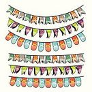 Party - Social Event,Celebration,Summer,Agricultural Fair,Vector,Flag,School Carnival,Banner,Backgrounds,Frame,Event,Ilustration,Hanging,Traditional Festival,Multi Colored,Bunting,Decor,Isolated,Cartoon,Hand-drawn,Vibrant Color,Ribbon,Birthday,Holiday,Carnival,Decoration,Design,Traveling Carnival