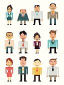 People,Friendship,Happiness,Individuality,Teamwork,Partnership - Teamwork,Togetherness,Unity,Necktie,Expertise,Business,Eyeglasses,Beard,Multi-Ethnic Group,Mixed Race Person,Occupation,Business Person,Manager,Professional Occupation,Standing,Smiling,Adult,Senior Adult,Cut Out,Illustration,Cartoon,Group Of Objects,Men,Senior Men,Women,Senior Women,Businessman,Businesswoman,Vector,Active Seniors,White Collar Worker,Characters,Human Resources,African Ethnicity,Secretary,Subordinate,Corporate Business,Colleague,Suit Man,Working Seniors,Flat Design