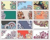 Business Card,Identity,Abstract,Silk,Visit,Pattern,Vector,Backgrounds,Decoration,Ornate,Creativity,Ilustration,Place Card,Textile,Label,template,Computer Graphic,Collection