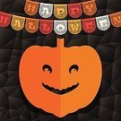 Decoration,Halloween,Holiday,Ilustration,Vector,Celebration Event,Season,Knick Knack,Red,Two-dimensional Shape,Black Color,Celebration,Paper,Greeting Card,Backgrounds,Geometric Shape,Pumpkin,Backdrop,Scrapbooking,Craft,Bunting,Banner,Orange Color