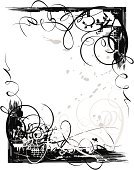 swirly,Black Color,Frame,White,Grunge,Design,Vector,Computer Graphic,Swirl,Floral Pattern,Pattern,Abstract,Black And White,Scroll Shape,Design Element,Splattered,Victorian Style,Angle,accent,Spotted,Rough,Shape,Copy Space,Squiggle,Messy,Black Border,Scratched,Textured,Ilustration,Spray,White Background,Painted Image,Illustrations And Vector Art,No People,Vertical,Vector Backgrounds,Image Created 21st Century