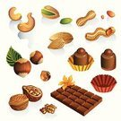 Nut - Food,Peanut,Walnut,Chocolate,Almond,Cashew,Hazelnut,Pistachio,Candy Bar,Candy,Vector,Ilustration,Vanilla,Food,Hazel Tree,Flower,Dessert,Icon Set,Variation,Clip Art,Healthy Eating,Food And Drink,Set,Large Group of Objects,Drawing - Art Product,Sweet Food,Refreshment,Snack,Group of Objects,Earth-nut,Brown,sweetest,Isolated-Background Objects,Isolated,Food And Drink,Isolated On White,Illustrations And Vector Art,Isolated Objects,Freshness,Sweet Stuff,Dairy Products