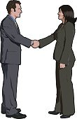 Handshake,Greeting,Business,Men,Women,Business Person,Meeting,Office Interior,Standing,Two People,Ilustration,Businessman,Side View,Professional Occupation,Female,Working,Vector,Agreement,Partnership,Occupation,Success,Businesswoman,Isolated,Smiling,Face To Face,White Background,Suit,Illustration Technique,Expertise,Heterosexual Couple,Male,Confidence,Studio Shot,White Collar Worker,Adult,Cheerful,Happiness,Concepts,Design Element,creative element,Digitally Generated Image,graphic element,Caucasian Ethnicity,Isolated On White,Toothy Smile,Elegance
