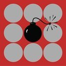 Bomb,Sparks,Impact,Riot,Pattern,Danger,Red,Backgrounds,Exploding,Explosive,1970s Style,Light - Natural Phenomenon,Psychedelic,Warning Sign,Rebellion,Weapon,Cool,Spotted,Art Deco,Humor,Style,Ammunition,Violence,War,Deco,Design,Gray,Black Color,Circle,Illustrations And Vector Art,Igniting,Lifestyle,Bright,Actions,Square,Toxic Substance