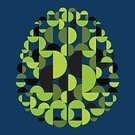 Green Color,Human Brain,Abstract,Shape,Technology