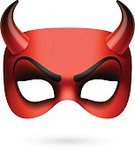 Horned,Devil,Demon,Mask,Costume,Entertainment,Camouflage,Evil,Carnival,Hell,Performance,Symbol,Single Object,Artificial,Fantasy,Human Face,Devil Mask,Mystery,Party - Social Event,Red,Vector,Halloween,Circus Mask,halloween mask,demon mask,Devil Horn,Masquerade Mask,Party Mask
