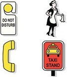 Do Not Disturb Sign,Maid,Hotel,Cleaning,Taxi,Taxi Stand,Religious Icon,Service,Symbol,Icon Set,Vector,Telephone,Ilustration,Travel Locations,Illustrations And Vector Art,Business,Travel
