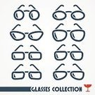 Looking At View,Personal Accessory,Elegance,Ilustration,Isolated,Modern,Cartoon,Flat,Cool,Human Eye,Computer Icon,Retro Revival,Black Color,Lens - Optical Instrument,Style,Fashion,Eyeglasses,Collection,Silhouette,Sunglasses,Set,Eyesight,Vector
