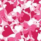 Heart Shape,Bow,Seamless,Print,Pattern,Bow,Pink Color,Valentine's Day - Holiday,Backgrounds,Love,Cute,Day,Swirl,Design,Wallpaper Pattern,Fun,Computer Graphic,Ilustration,Vector,Arts Backgrounds,Holidays And Celebrations,Vector Backgrounds,Arts And Entertainment,Valentine's Day,Square,No People,Holiday,Digitally Generated Image,Illustrations And Vector Art