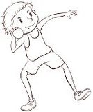 Activity,Sport,Practicing,Strength,Vector,Doodle,Fun,Action,White Background,Clip Art,Close-up,Little Boys,Throwing,Men,Computer Graphic