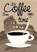 Rome - Italy,Cafe,Italy,Text,Tea - Hot Drink,Coffee - Drink,Vector,Travel Agency,Amphitheater,Painted Image,Sky,Engraved Image,Urban Scene,Old-fashioned,Coffee Time Restaurant,Cup,Travel Destinations,Vacations,Famous Place,Latte,Cooking,Hot Chocolate,Restaurant,Ilustration,Mocha,Cappuccino,Heat - Temperature,Tourism,Cartoon,Freshness,Tree,Drink,Coffee Shop,Coffee Break,House,Travel,Cultures,Coliseum,Walking,1940-1980 Retro-Styled Imagery,Chocolate,Europe