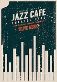 Poster,Retro Revival,Jazz,Old-fashioned,Music,Blues,Music Festival,Piano,Backgrounds,Musical Band,Label,Flyer,Popular Music Concert,Exhibition,Rock and Roll,Grunge,Computer Graphic,Live Event,Piano Key,Nightclub,waveform,Symbol,Banner,template,Placard,Key,Catwalk - Stage,Copy Space,Cafe,Billboard,World Music,Saxophone,Night,Ilustration,Elegance,Book Cover,Outdoors,Greeting Card,Vector,Business,Style,Day,Event,Design,Singing,Ideas,Wallpaper,Sign
