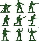 Army,Men,Toy Soldier,Armed Forces,Toy,Green Color,Silhouette,War,Weapon,Government,Industry,Illustrations And Vector Art,People