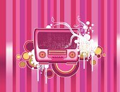 Radio,Striped,Pink Color,Backgrounds,Music,Party - Social Event,Retro Revival,Vertical,Grunge,Dirty,Flower,Textured,Abstract,Old,Antique,Vector,Circle,Pattern,Listening,Ilustration,Floral Pattern,Old-fashioned,Computer Graphic,Ancient,Color Gradient,Canvas,Nature,Design,Plant,The Past,Art,Direction,Sunbeam,Spray,Branch,Sound,Material,Decoration,Design Element,Ornate,Play,Creativity,Damaged,Style,Arts And Entertainment,Household Objects/Equipment,Technology,Music,Electronics,Objects/Equipment,Curve