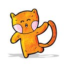 Cheerful,funny animals,Ilustration,Doodle,Cute,Speech