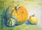 hand drawn,Watercolor Painting,vector pumpkin,Pumpkin,Art,Paintings,Vector,Nature,Banner,Vegetable Garden,Green Color,Beautiful,Textured,Art Product,Painted Image,Plant,Orange Color,Beauty In Nature,Design,Botany,Placard,Crop,Autumn,Vegetable,Ilustration,Jack O' Lantern,Isolated Pumpkin,Candid,Ingredient