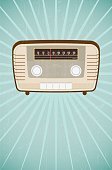 Vector,Radio,Sunbeam,Piano Tuner,Pattern,Listening,Broadcasting,Ilustration,Nostalgia