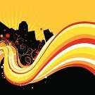 Graffiti,City Life,City,Urban Scene,Backgrounds,Paint,Computer Graphic,Summer,Vector,Grunge,Swirl,Yellow,Town,Red,Splattered,Flowing,Youth Culture,Orange Color,Heat - Temperature,Drop,Building Exterior,Digitally Generated Image,Built Structure,Ilustration,Modern,No People,Skyscraper,Color Image,Colors