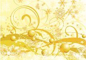 Christmas,Swirl,Yellow,Design,Gold Colored,Floral Pattern,Backgrounds,Holiday,Snow,Snowflake,Plant,Winter,Abstract,Fashion,Sphere,Branch,Symbol,White,Cold - Termperature,Elegance,Vector,Art,Spray,Decor,Computer Graphic,Composition,Ilustration,Image,Decoration,Celebration,Snowing,Ornate,Botany,Nature,Curve,Frozen,December,Frost,Curled Up,Illustrations And Vector Art,Holidays And Celebrations,Christmas,Year,Vector Backgrounds,Beautiful,Shape,Ice,Greeting,Beauty,Style
