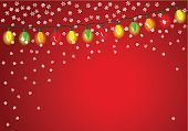Christmas Lights,Frame,Holiday,Ornate,Vibrant Color,Season,String,Snow,Space,Glowing,Party - Social Event,Backgrounds,Decorating,Banner,Colors,Vector,Hanging,Ilustration,Snowflake,Power Line,Multi Colored,Copy Space,Decoration,Celebration,Greeting,Light Bulb,Chain Of Lights,Chain,Shiny,Placard,Bright,Lighting Equipment,Christmas,Illuminated,Isolated