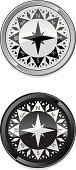 Compass,North,Direction,West - Direction,East,Chrome,South,Black Color,White,Metal,Vector Icons,Illustrations And Vector Art,Glass,Glass - Material,Southern USA