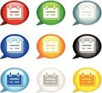 Symbol,List,Religious Icon,Internet,Red,Blue,Yellow,Computer Icon,Speech Bubble,Orange Color,Push Button,White Background,web icon,Gray,Objects/Equipment,Interface Icons,Illustrations And Vector Art,Vector Icons,Document,Shiny,Black Color,Green Color