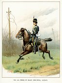 Engraved Image,England,English Culture,Horse,Ilustration,People,Nostalgia,Military,Color Image,British Military,Retro Revival,Obsolete,Print,Cultures,Army Soldier,UK,British Culture,Army,Regiment,Old,Cavalry,Image Created 19th Century,Victorian Style,Hussar - Canada,History,Military Uniform,Lithograph,Horse Family,19th Century Style,Animal,Styles,Uniform,Riding,The Past,Armed Forces,Animal Related Activity,Antique,Old-fashioned