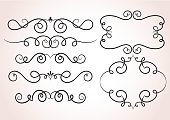Calligraphy,Pattern,accents,Elegance,Curled Up,Swirl,filigree,Computer Graphic,Decoration,Vector,Ornate,typographic