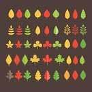 Set,Collection,Autumn,Summer,Green Color,Season,Plant,template,Tree,Clover,Yellow,Leaf,Environment,Nature,Shape,Symbol,Computer Graphic,Branch,Forest,Vector,Branding