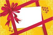 Gift,Birthday,Backgrounds,Bow,Bow,Gift Tag,Greeting Card,Holiday,Vector,Ribbon,Anniversary,White,Computer Graphic,Red,Yellow,Flower,Pattern,Gold Colored,Celebration,Blank,Bouquet,Moire,Ilustration,Striped,Horizontal,Copy Space,diagonally,Scroll Shape,Lifestyle,Illustrations And Vector Art,Lifestyle Backgrounds,Holidays And Celebrations,Bright,Shiny