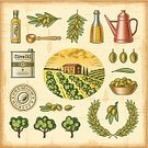 Olive Tree,Olive,Old-fashioned,Olive Branch,Cooking Oil,Food,Woodcut,Spoon,Farm,Symbol,Plantation,1940-1980 Retro-Styled Imagery,Can,Bowl,Vector,Agriculture,Bottle,Textured,Line Art,Multi Colored,Print,Old,Parchment,Set,Tree,Branch,Rubber Stamp,Wreath,Engraved Image,Cruet,Drawing - Art Product,Eps10,Single Object,Wooden Spoon,Crop,Text,Landscape,Scratched,Leaf,Olive Oil,Backgrounds,House,Paper,Grove,Grunge,Fruit,Label,Ilustration,Cloud - Sky,Design Element