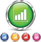 Moving Up,Metal,Computer Graphic,Diagram,Finance,Shiny,Aluminum,Red,Orange Color,Pushing,Plastic,Circle,Making Money,Business,Set,Graph,Reflection,Green Color,Blue,Growth,Vector,Internet,Design,Sign,Chrome,Pink Color