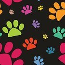 Domestic Cat,Dog,Paw,Backgrounds,Pattern,Black Color,Seamless,Animal Toe,Shape,Wallpaper Pattern,Cute,Footprint,Pets,Ilustration,Animal Foot,Animal,Red,Green Color,Silhouette,Eternity,Textile,Walking,Vector,Nature,Cartoon