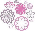 Lotus Water Lily,Computer Icon,Symbol,Water Lily,Pink Color,Collection,Flower,Decoration,Springtime,Silhouette,Nature,Vector,Summer,Abstract,Set,Design Element,Chrysanthemum