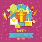Poster,Vector,Backgrounds,Party - Social Event,Event,Pastel Colored,Balloon,Anniversary,Birthday,Happiness,Multi Colored,Bright,Vibrant Color,Celebration